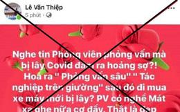 Đề nghị xử lý tài khoản facebook Lê Văn Thiệp xúc phạm nữ phóng viên