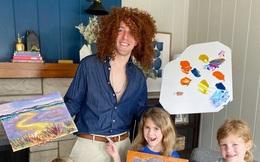 Các con ở nhà vì dịch, ông bố người Mỹ bày đủ trò để bọn trẻ chơi mà học
