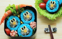 Trổ tài làm sushi Doraemon
