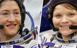 Lần đầu tiên nhóm bay thám hiểm vũ trụ chỉ gồm 2 nữ phi hành gia