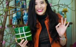 Hoa hậu Phan Hoàng Thu thích nhất được gói bánh chưng đón Tết