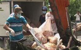4 tạ thịt lợn thối sắp từ lò mổ ra thị trường