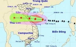 Sáng 30/8, bão số 4 sẽ đi vào đất liền từ Nghệ An đến Quảng Bình
