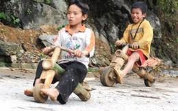 Thót tim xem trẻ em Tây Bắc thả trôi dốc bằng xe tự chế