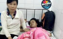 Bé gái bị tai nạn gãy đùi - gia đình thêm khốn khó