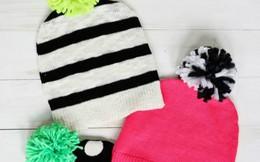 Mũ ấm từ áo len cũ