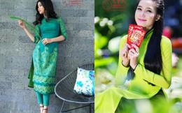 Miss Photo 2017: Duyên dáng áo dài phối màu Xanh lá