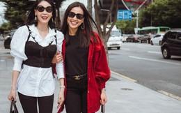 Hà Kiều Anh hội ngộ Hoa hậu Dương Mỹ Linh tại xứ Kim chi