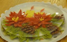 Làm thạch 3D hoa trạng nguyên, quả thông đón Noel