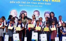 Quỹ sữa Vươn cao Việt Nam trao 64.000 ly sữa cho trẻ em tỉnh Bình Định