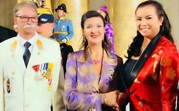 Hoa hậu Kim Hồng tặng sách giới thiệu về Việt Nam cho Công chúa Hoàng gia Áo