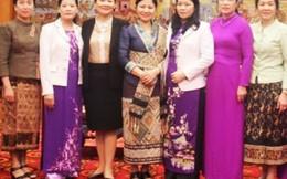 Hội LHPN Lào trao đổi hoạt động Hội tại Vĩnh Phúc