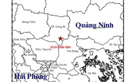 Động đất ở Quảng Ninh nhưng không gây thiệt hại người và tài sản