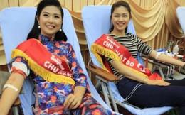 Hoa hậu Ngọc Hân 'rủ' Á hậu Thanh Tú hiến máu tình nguyện