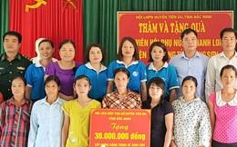 Hội LHPN tỉnh Bắc Ninh tặng quà hội viên phụ nữ nghèo ở Lạng Sơn