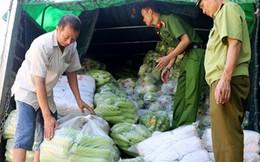 Tiêu hủy 3,8 tấn rau, củ xuất xứ Trung Quốc