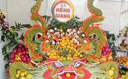 Độc đáo những tác phẩm trái cây trưng bày tại Hội chợ cam bưởi Lục Ngạn 2018