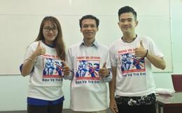 Nhóm phụ huynh tại TP HCM mặc đồng phục tuyên truyền chống ấu dâm