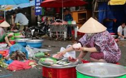 Chợ tự phát là đầu mối của thực phẩm bẩn