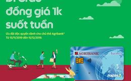Cùng thẻ Agribank đi Grab 1k suốt cả tuần