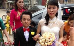 Đám cưới chú rể tới vai cô dâu xôn xao dân mạng