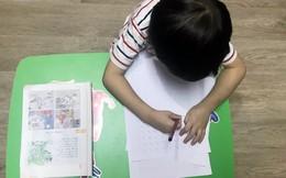 Mới 5 tuổi, con đã phải học bài đến 11 giờ đêm