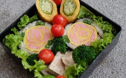 Sushi hoa hồng cực dễ làm