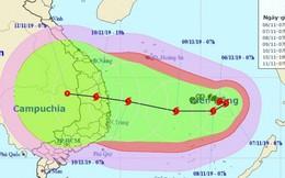 Bão số 6 hướng vào Nam Trung Bộ có khả năng ảnh hưởng đến đất liền