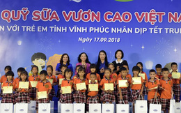 Quỹ sữa Vươn cao Việt Nam trao 66.000 ly sữa cho trẻ em tỉnh Vĩnh Phúc