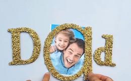 Làm khung ảnh gạo dễ thương tặng Ngày của Cha