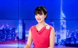 Hoa hậu Thu Thủy rực rỡ làm MC mở màn năm mới