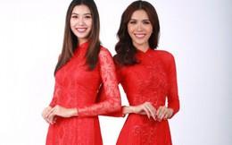 Á hậu Thúy Vân, siêu mẫu Minh Tú đỏ rực chào xuân