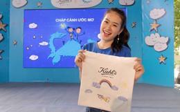 Á khôi Miss Photo Thạch Thảo vẽ tranh kêu gọi giúp đỡ trẻ em đường phố