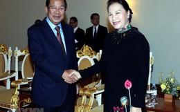 Chủ tịch Quốc hội Nguyễn Thị Kim Ngân hội kiến Thủ tướng Campuchia Hun Sen