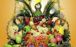 Cận rằm tháng Tám, hoa quả cắt tỉa bày mâm cỗ trung thu tăng giá vùn vụt