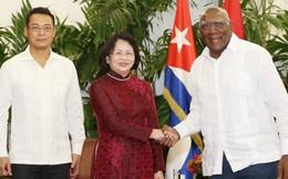 Phó Chủ tịch nước Đặng Thị Ngọc Thịnh hội đàm với Phó Chủ tịch Cuba