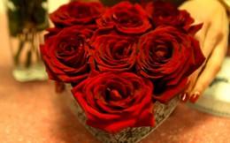 Ngày Lễ tình nhân trổ tài làm hộp hoa hồng trái tim tặng người thương