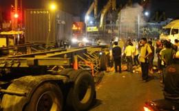Hai mẹ con bị cuốn vào gầm xe container, tử vong tại chỗ