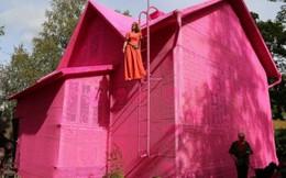 Ngôi nhà bằng len độc nhất vô nhị cho phụ nữ tị nạn