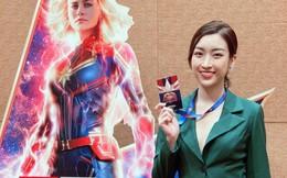 Hoa hậu Đỗ Mỹ Linh tới Singapore phỏng vấn ngôi sao phim 'Đại úy Marvel'