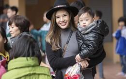 Hoa hậu Phan Hoàng Thu đưa con trai đi làm từ thiện