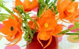 Bông hoa rực rỡ từ rau quả
