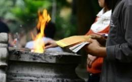 Đề nghị Phật tử bỏ đốt vàng mã tại các tự viện