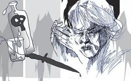 Chồng vung dao chém vào mặt vợ