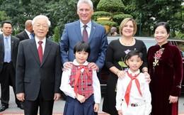Tổng Bí thư, Chủ tịch nước và Phu nhân đón Chủ tịch Cuba và Phu nhân thăm Việt Nam