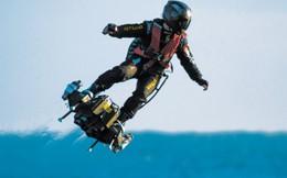 Nhà phát minh người Pháp vượt biển Manche bằng ván trượt trên không