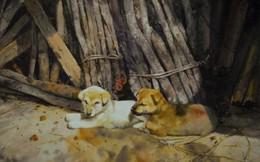 Những chú chó trong tranh các họa sĩ Việt
