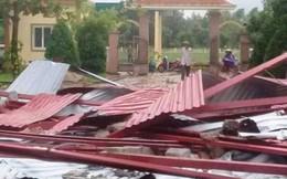 Lốc xoáy làm tốc mái trường tiểu học tại Hà Tĩnh trước thềm năm học mới