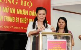 Gần 160 triệu đồng ủng hộ phụ nữ miền Trung