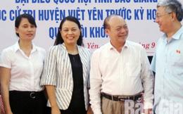 Đại biểu Quốc hội Nguyễn Thị Thu Hà tiếp xúc cử tri huyện Việt Yên, Bắc Giang